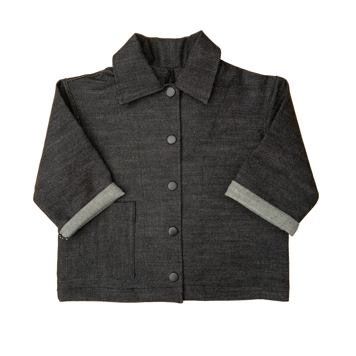 Image of Pippins - Denim jacket. Raw Black.