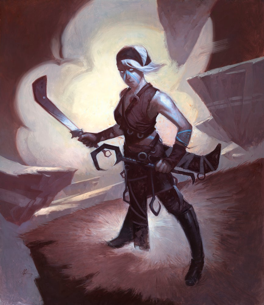 Image of Kor Ally - Magic the Gathering Original Painting