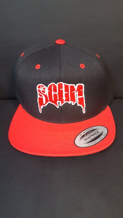 Image of SCUM : RED LOGO Snapback hat