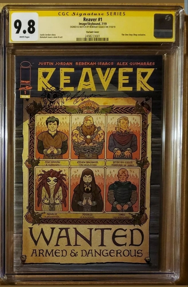 Image of REAVER #1 VARIANT CGC 9.8 SIGNED & SKETCHED BY REBEKAH ISAACS (Only 500 Copies Made)