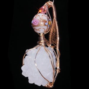 Image of Anandalite Crystal Drusy Handmade Pendant