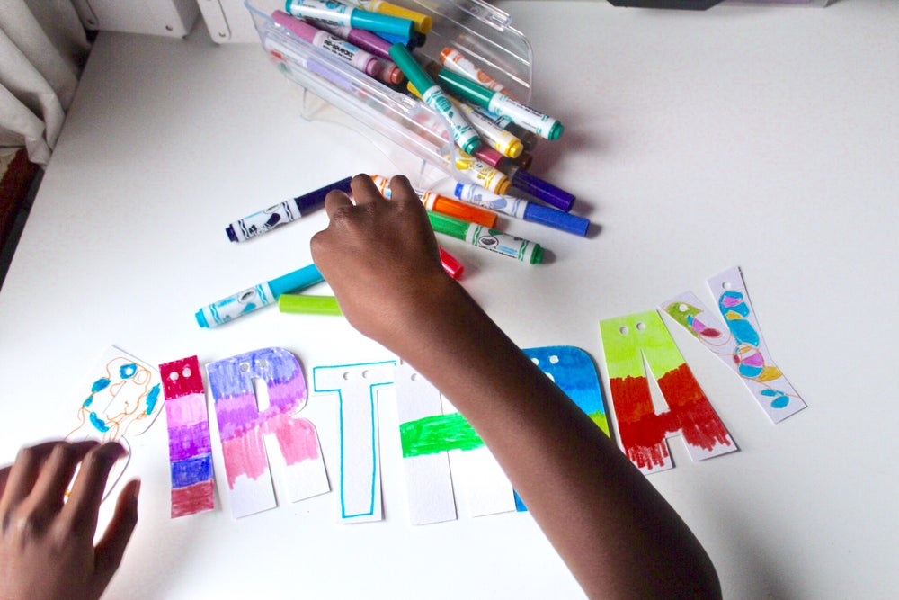 Image of Colour your own banner