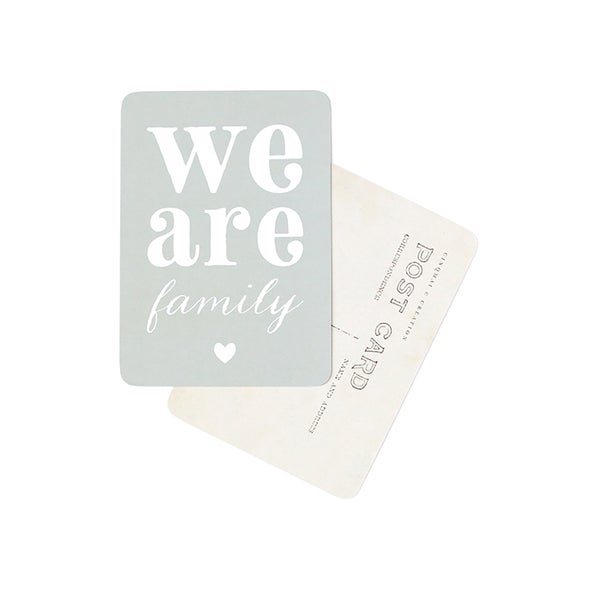 Image of Carte Postale WE ARE FAMILY / ADELE