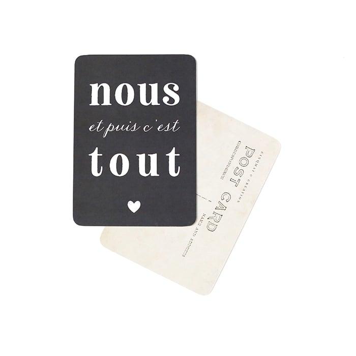 Image of Carte Postale NOUS ET PUIS C'EST TOUT