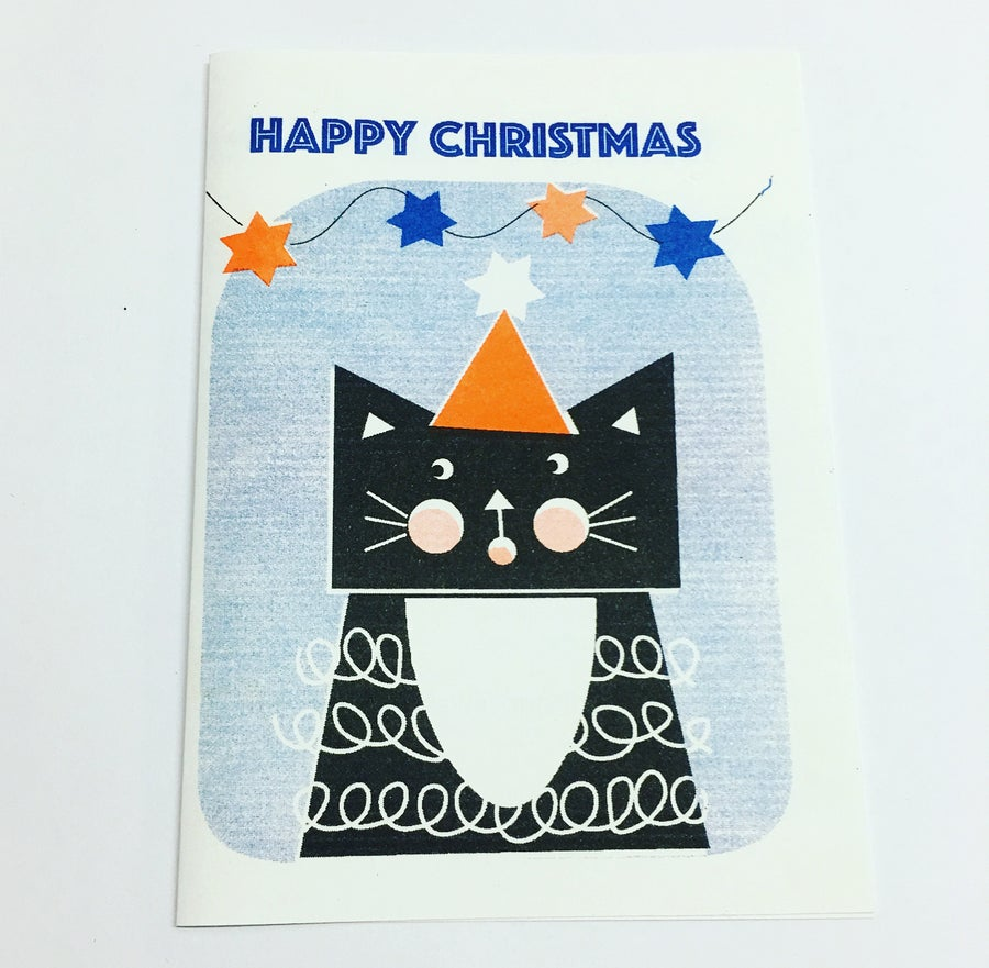 Image of Riso Printed Xmas Cards A6 size
