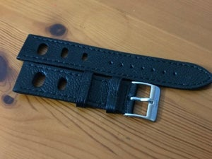 Image of 22MM FORTIS SPORTS Leather gents Watch strap,Black,new