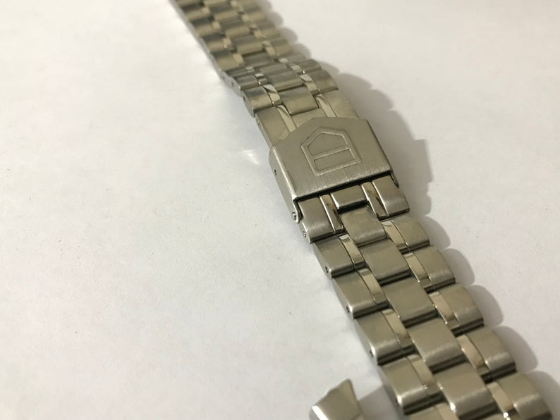 Image of 20mm Tag Heuer Mens Stainless Steel Watch Strap,Curved Lugs.
