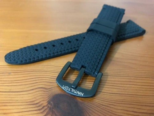 Image of 22MM Hamilton Sports Silicon Rubber Gents WATCH STRAP,NEW