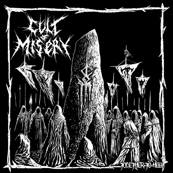 "Image of LADV121 - CULT OF MISERY ""together to hell"" LP"