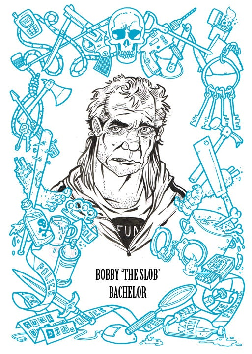 Image of BAD WORDS book - PLUS - Original A5 Inked Bust