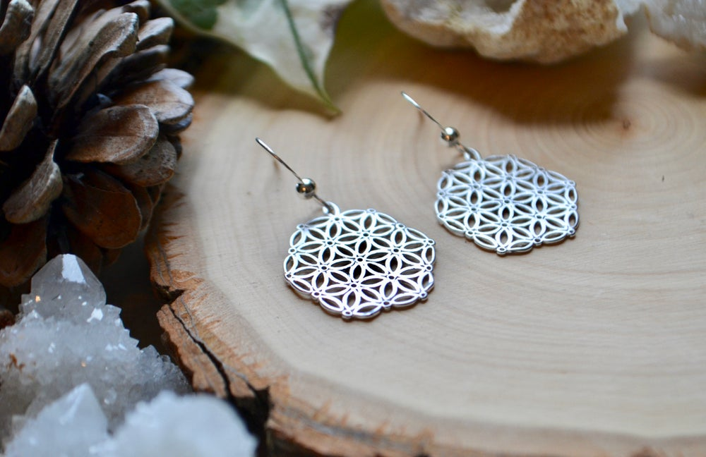 Image of Flower of life earrings