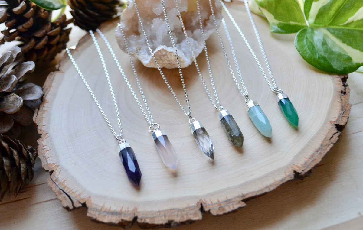 Image of Gemstone point necklaces