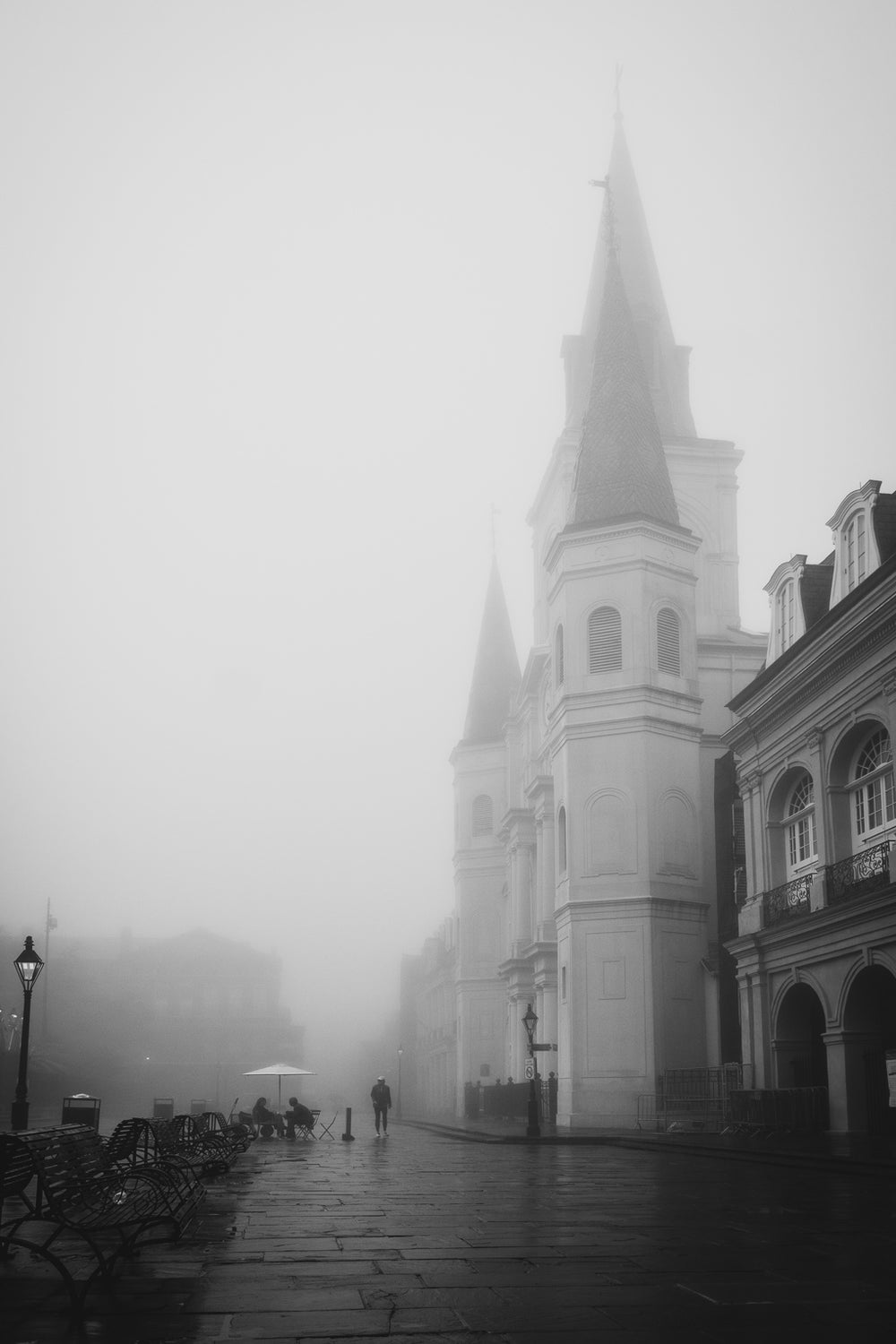 Image of St. Louis Cathedral In The Fog / New Orleans Photography Print