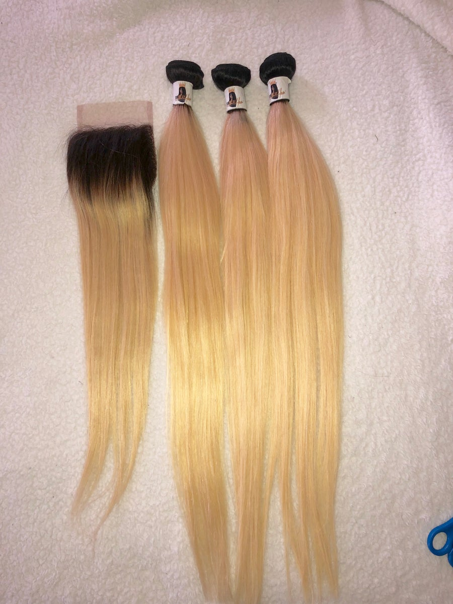 Image of 613 Blonde -3 Bundles  with closure Deal