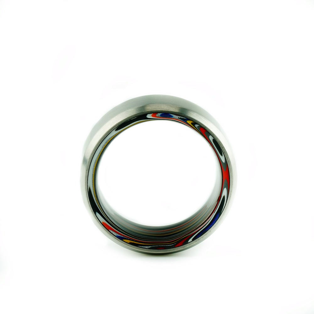 Image of Titanium (or carbon) Fordite roller (Limited)