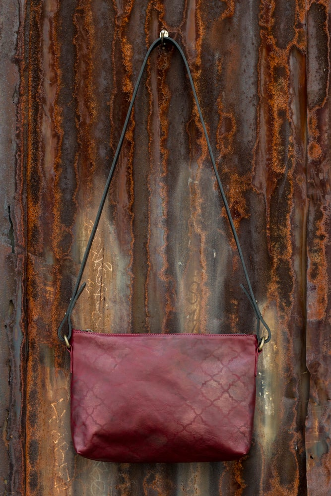 Image of Ebro short crossbody - hand stencilled leather