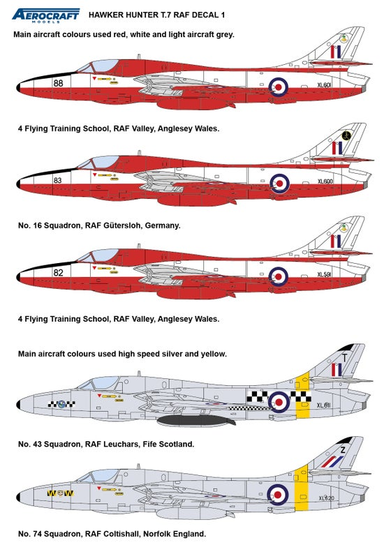 Image of Hawker Hunter T.7 Conversion (Early RAF) for Airfix kit