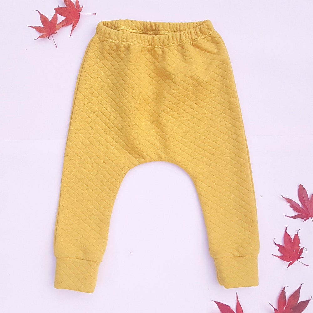 Image of Quilted Mustard Harem Leggings