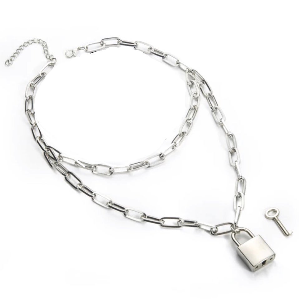 Image of Locked up layered necklace
