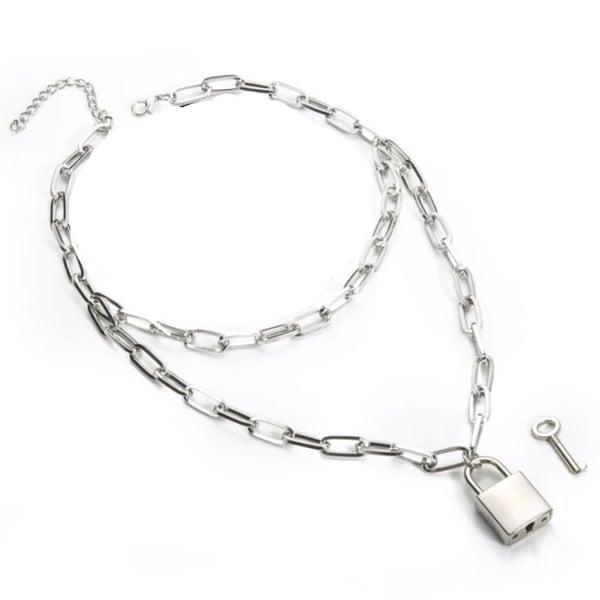 Image of Locked up layered necklace