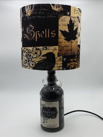 Image of NEVERMORE Kraken Rum Bottle Lamp Deal