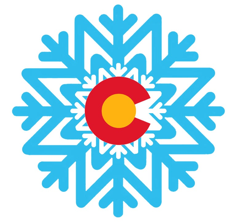 "Image of NEW LIMITED EDITION COLORADO SNOW FLAKE  4"" STICKER"