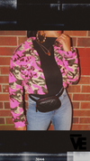 Cropped Fleece Pink Camo Jacket