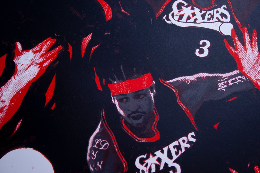 Image of The Answer (Allen Iverson) Limited Edition Screen Print ARTIST PROOFS