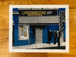 Image of Underground Railroad, Morgantown WV Art Print - Blue & Gold Edition