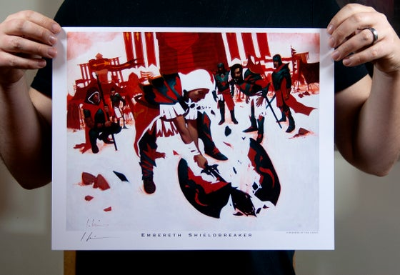 Image of Embereth Shieldbreaker Print