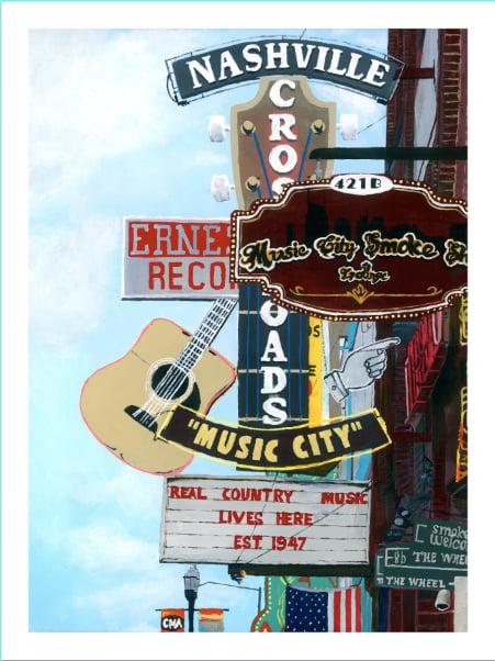 Image of Broadway in Nashville