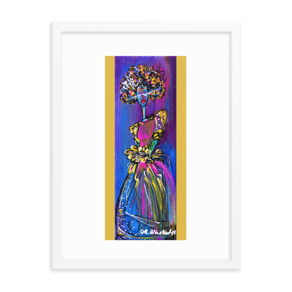 "Image of ""Afro-Funk Diva"" Fine Art Poster"