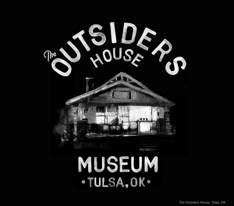 "Image of The Outsiders House Museum ""White Watercolor"" by Artist Glenn Wolk."
