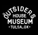 """Image of The Outsiders House Museum """"White Watercolor Lettering"""" Tulsa, Oklahoma by Artist Glen Wolk."""
