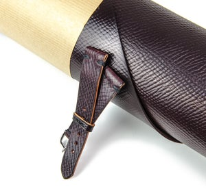 Image of N°8 Horween Shell Cordovan Russian Grain single stitch classic strap