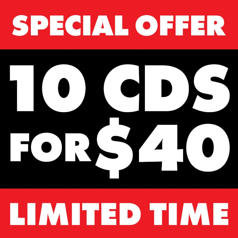 Image of 10 CDs FOR $40