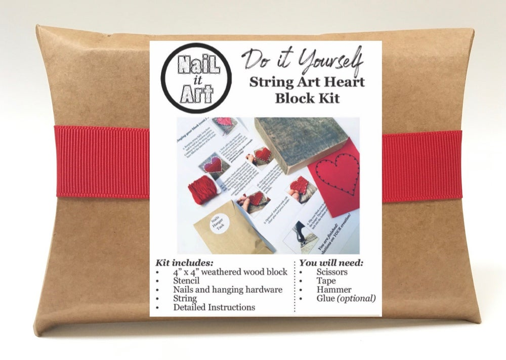 Image of Do it yourself red heart kit