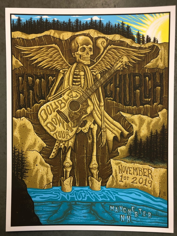 Image of Eric Church - New Hampshire 2019 - Show Print - Artist Edition Single