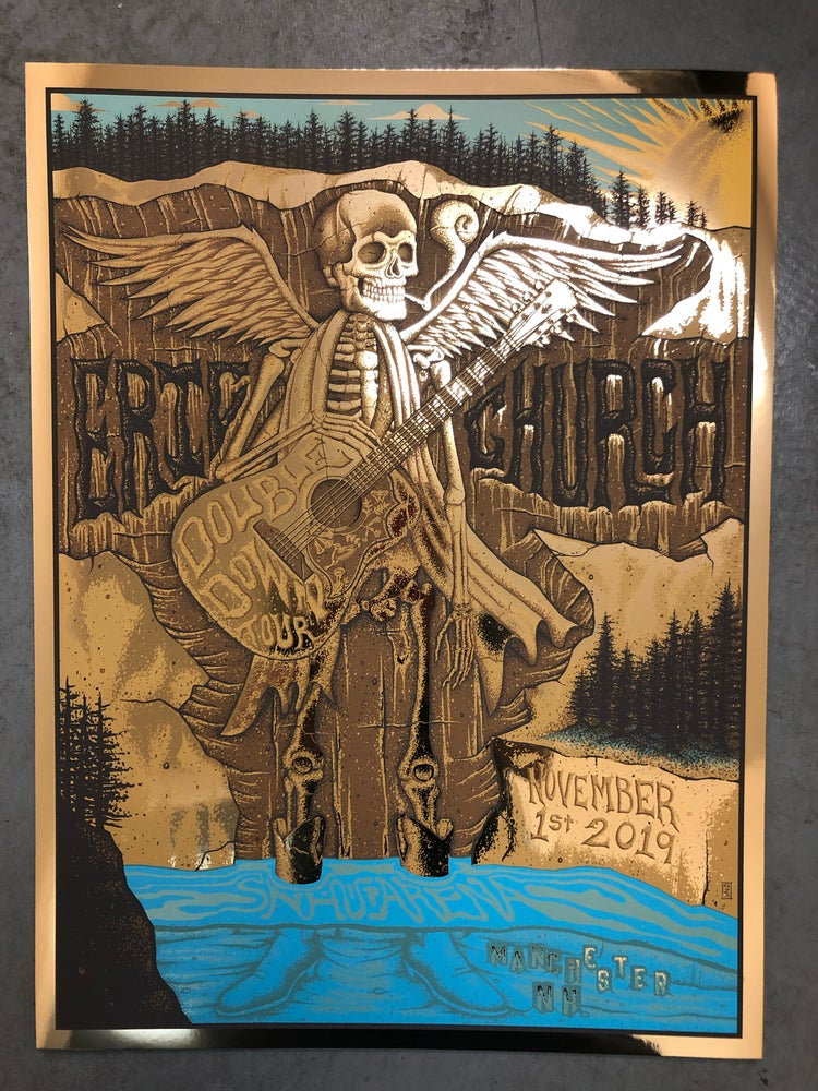 Image of Eric Church - New Hampshire 2019 - Gold Foil Variant SET