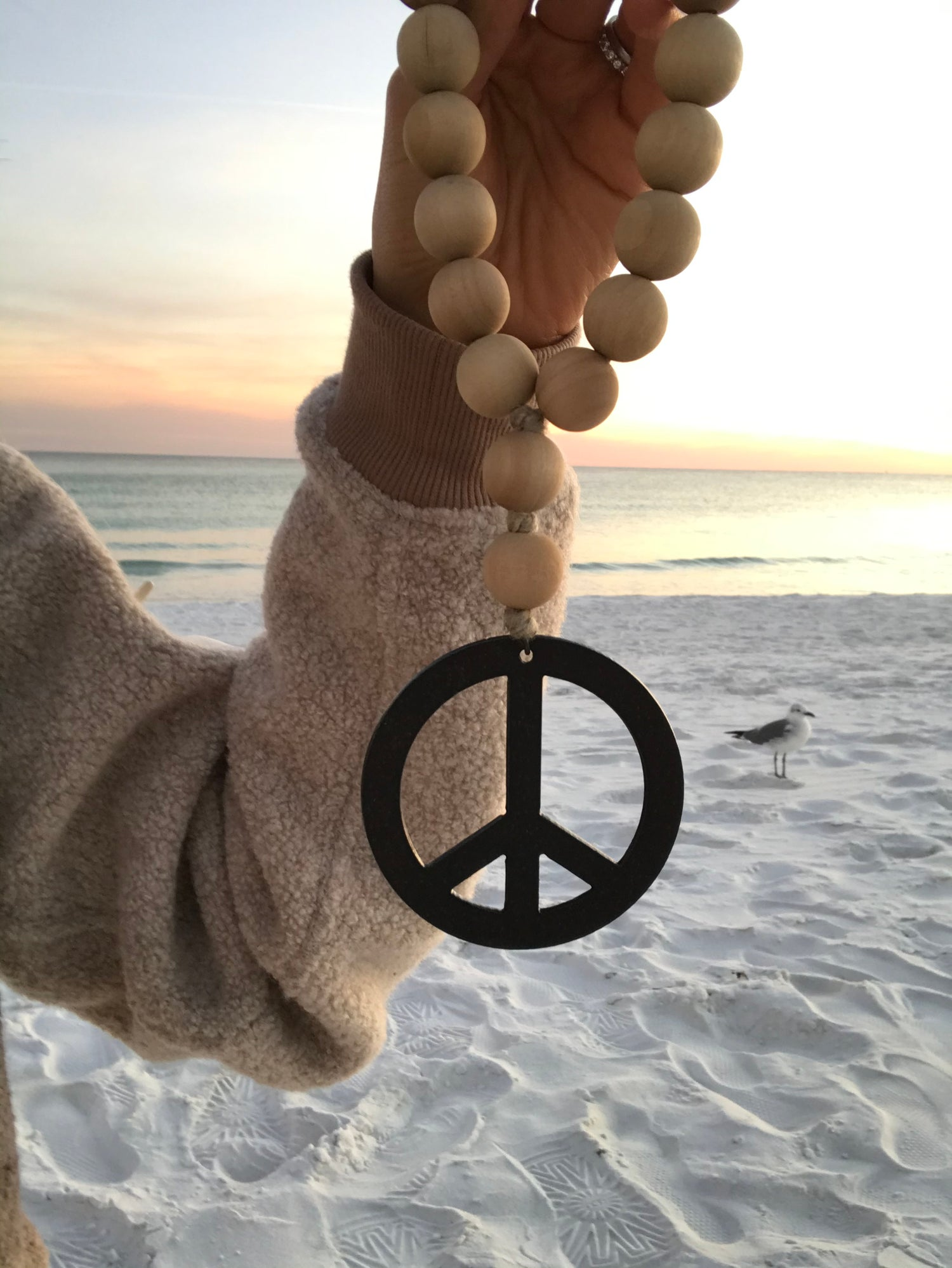 Image of MINI LOVE BEADS - DRIED PALM PEACE