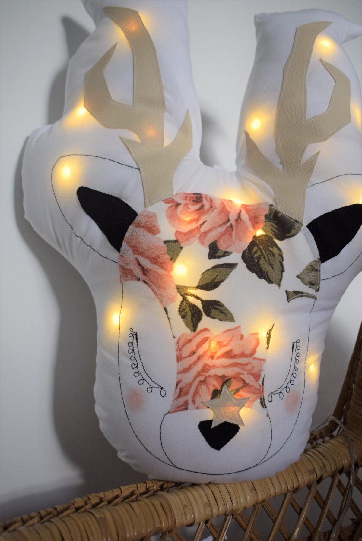Image of GABRIEL - Cerf lumineux fleuri Edition limitée
