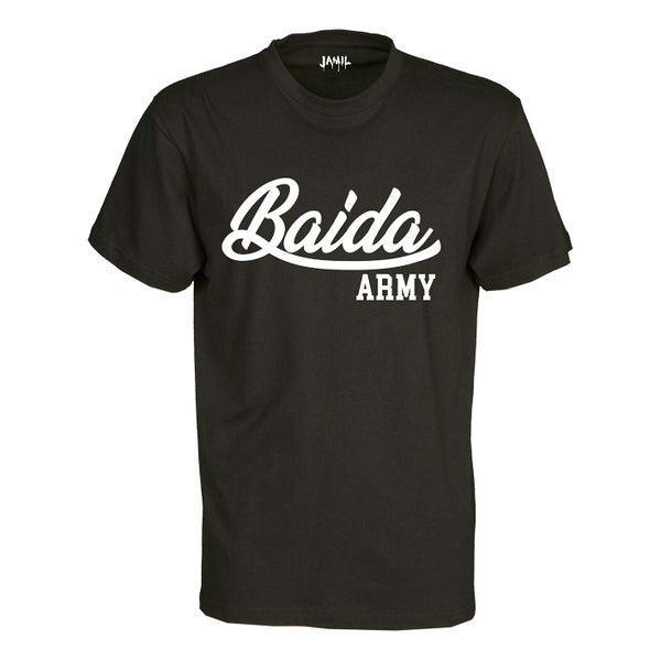 Image of Baida Army - Black Tee Logo