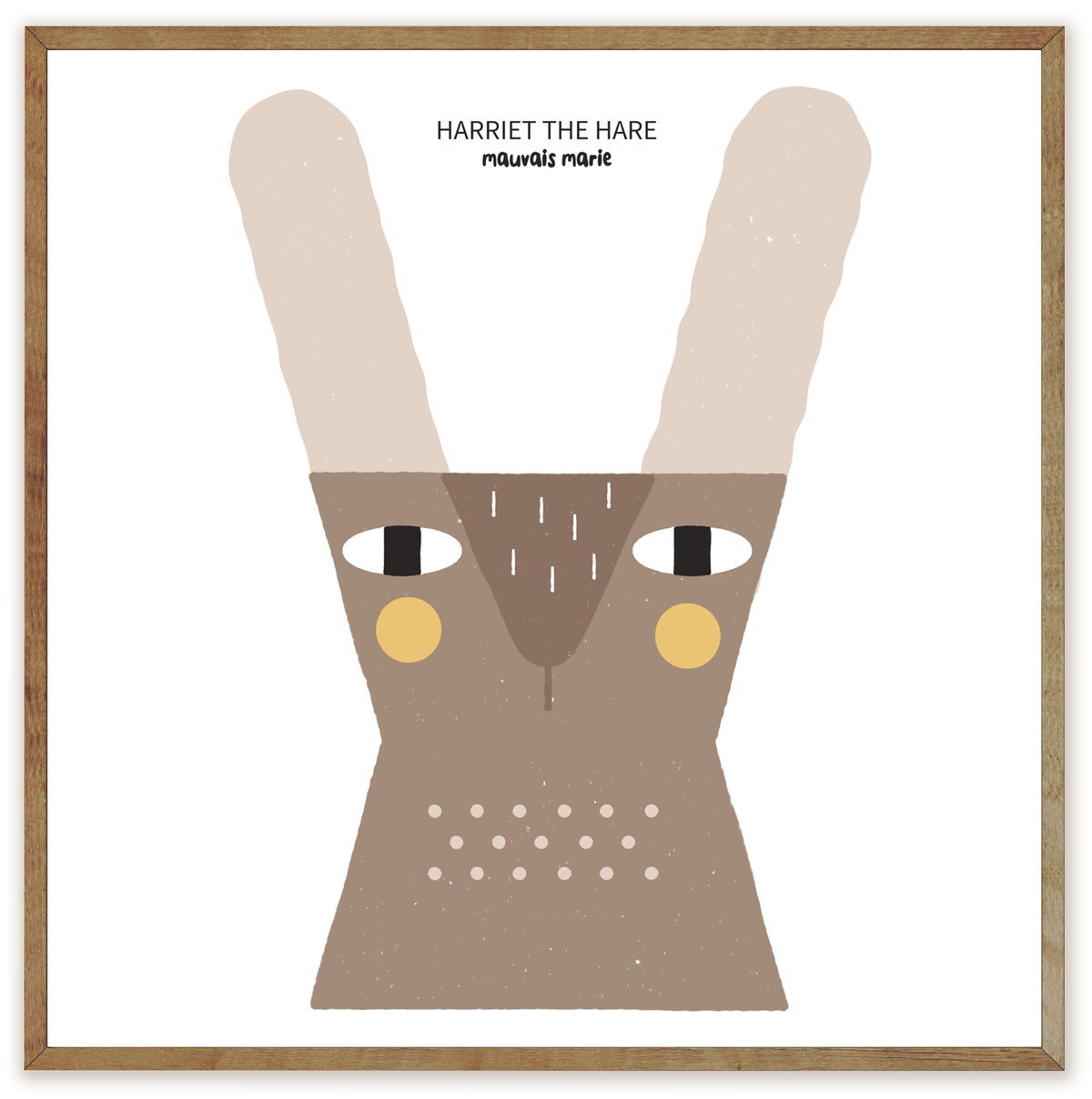 Image of Harriet the hare print