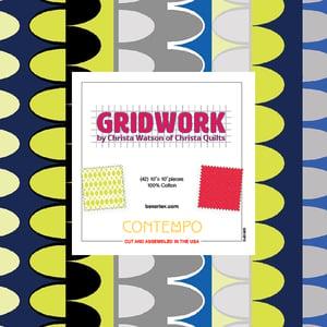 "Gridwork Layer Cake 42 - 10"" Squares"