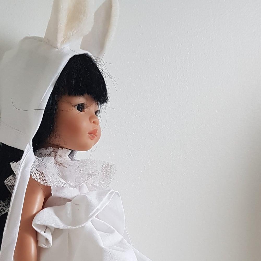 Image of COLLERETTE DENTELLE pour poupée de noël