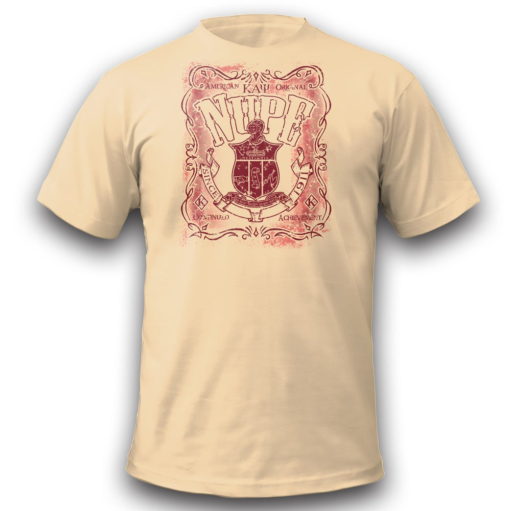 Image of American Original Nupe Graphic Dry-Fit T-Shirt (Cream)