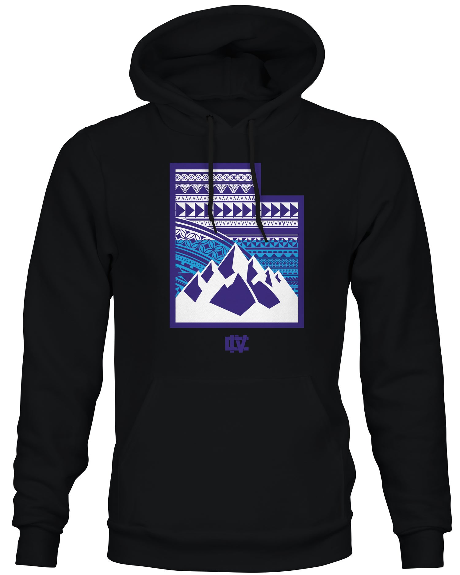 Image of 801 State Throwback Hoodie - Purple