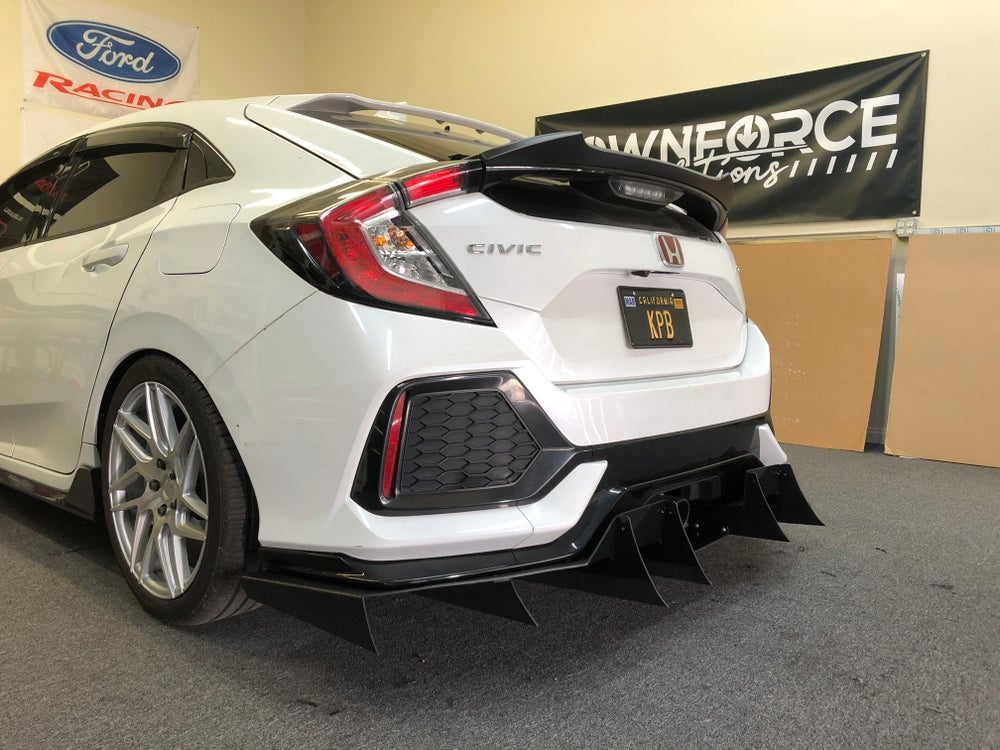 "Image of 2016-2019 Honda Civic ""Sport"" V2 rear diffuser"