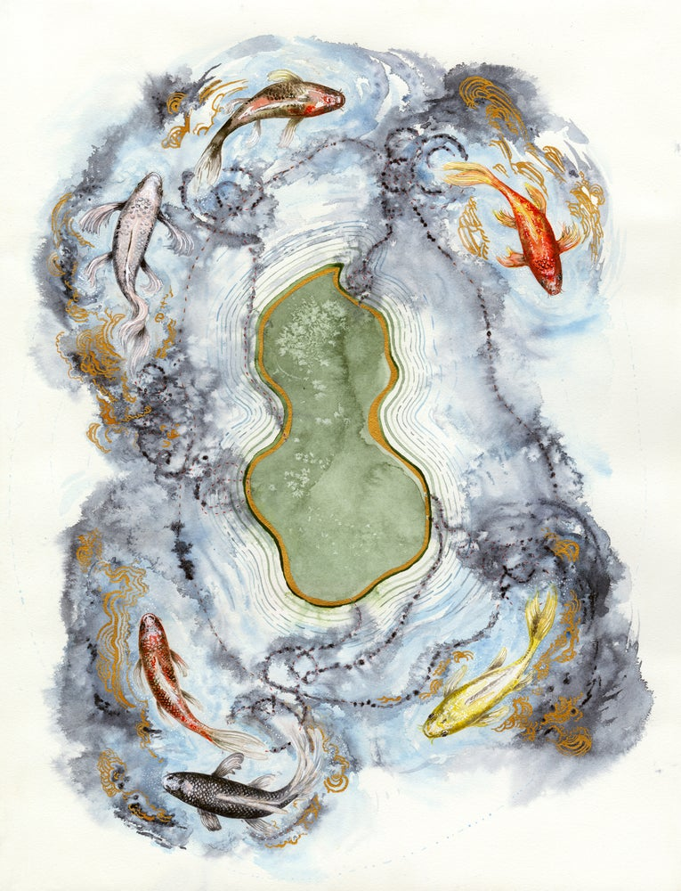 "Image of ""The Koi Pond Map"" giclee print"