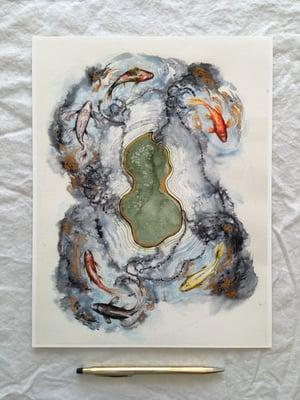 """The Koi Pond Map"" giclee print"